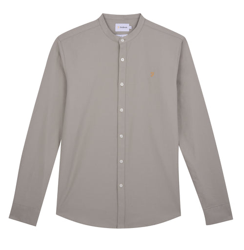 Farah Brewer Grandad Slim Fit Shirt Balsam