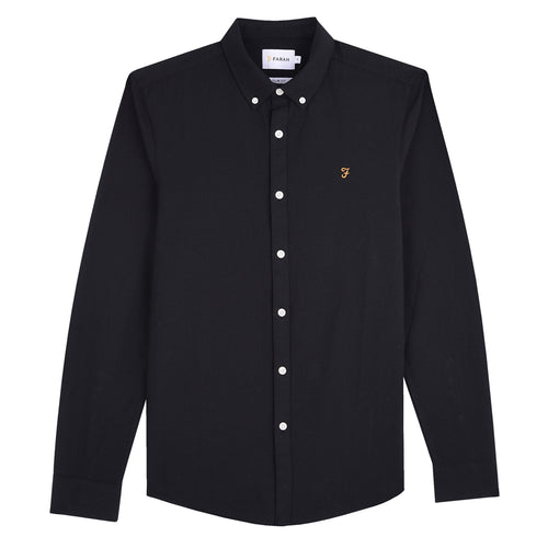Farah Brewer Slim Fit Shirt Black