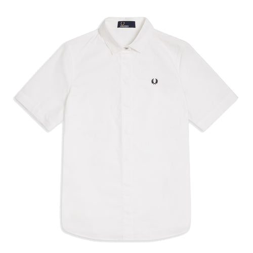 Fred Perry Oxford-Hemd, Weiss