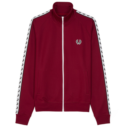 Fred Perry Sports Authentic Taped Track Jacket, Bordeaux