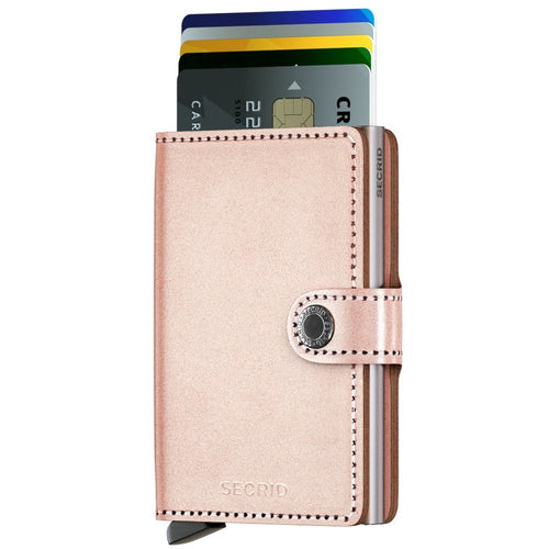 Secrid Miniwallet Metalic, Rose Gold
