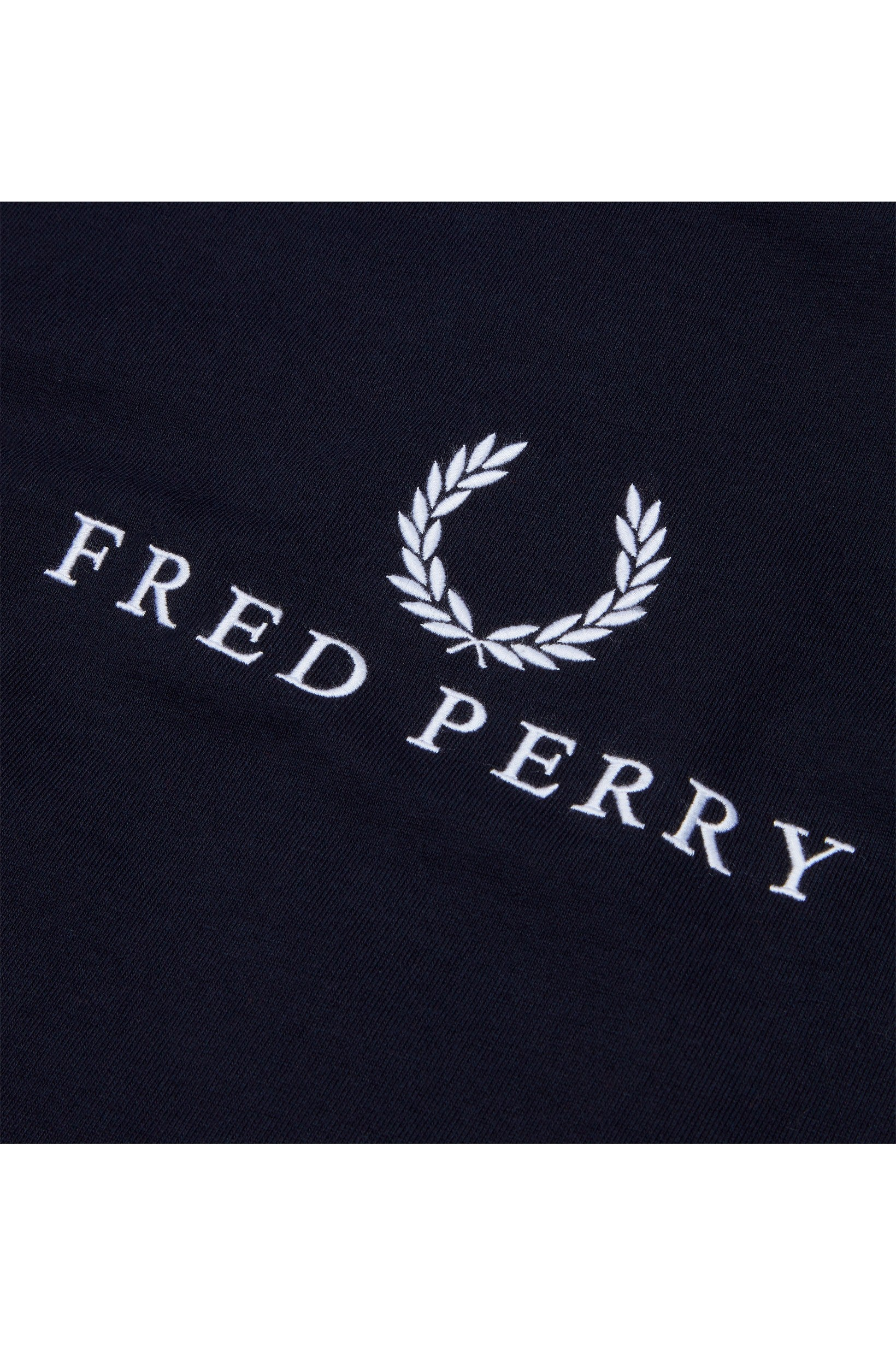 Fred Perry Sports Authentic Embroidered Sweatshirt Navy