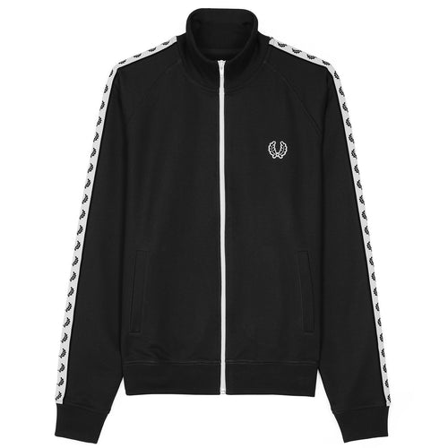 Fred Perry Sports Authentic Taped Track Jacket, Black