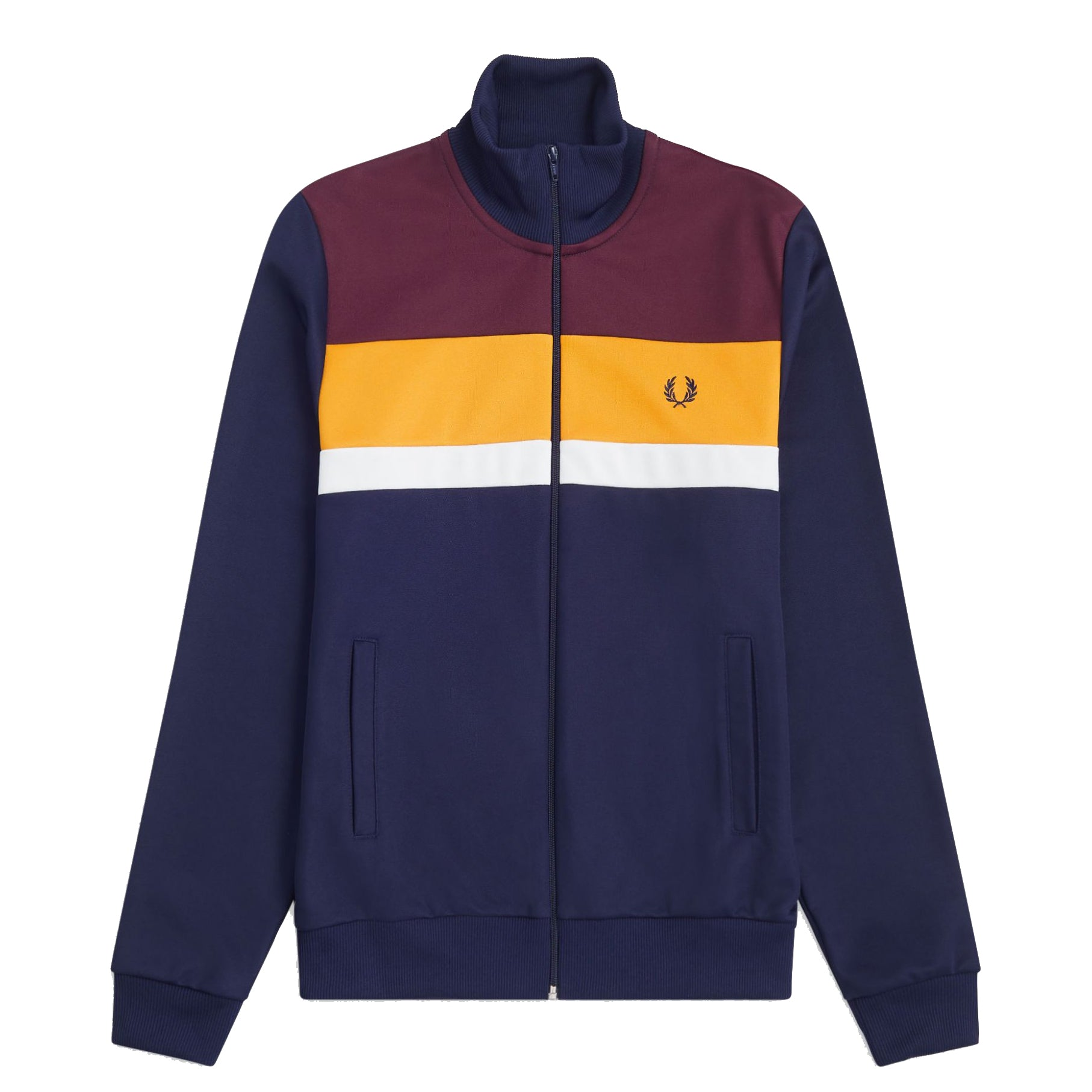 Fred Perry Colour Block Track Jacket, Dunkelblau