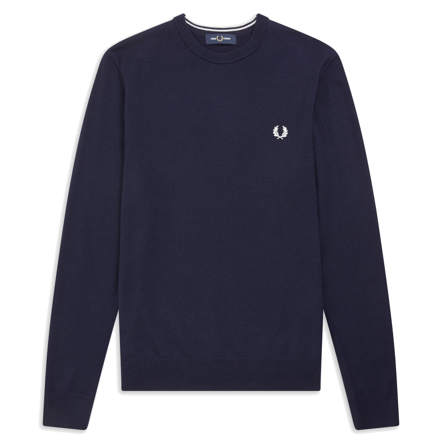 Fred Perry Classic Merino Crew Neck Dark Carbon