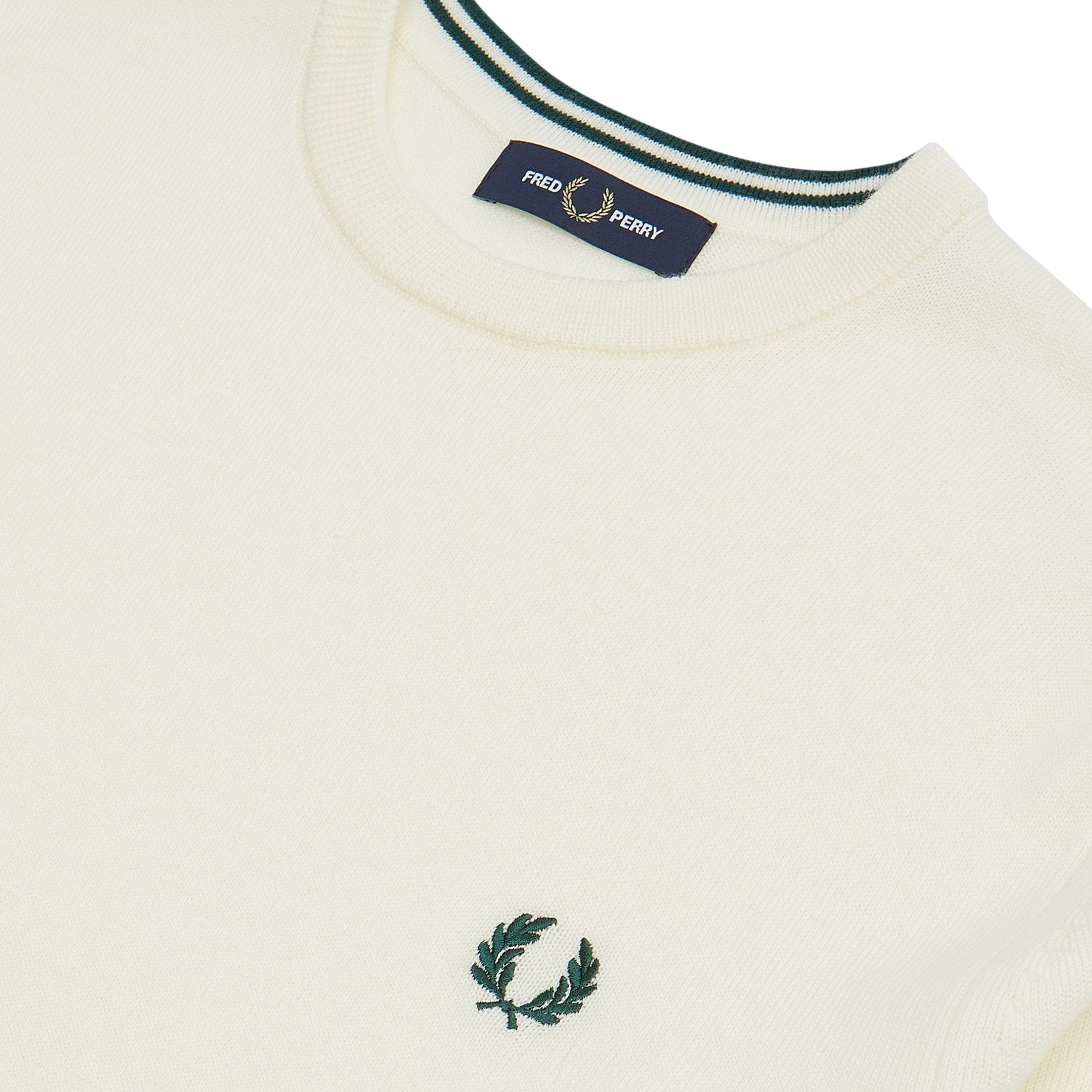 Fred Perry Classic Merino Crew Neck Light Ecru