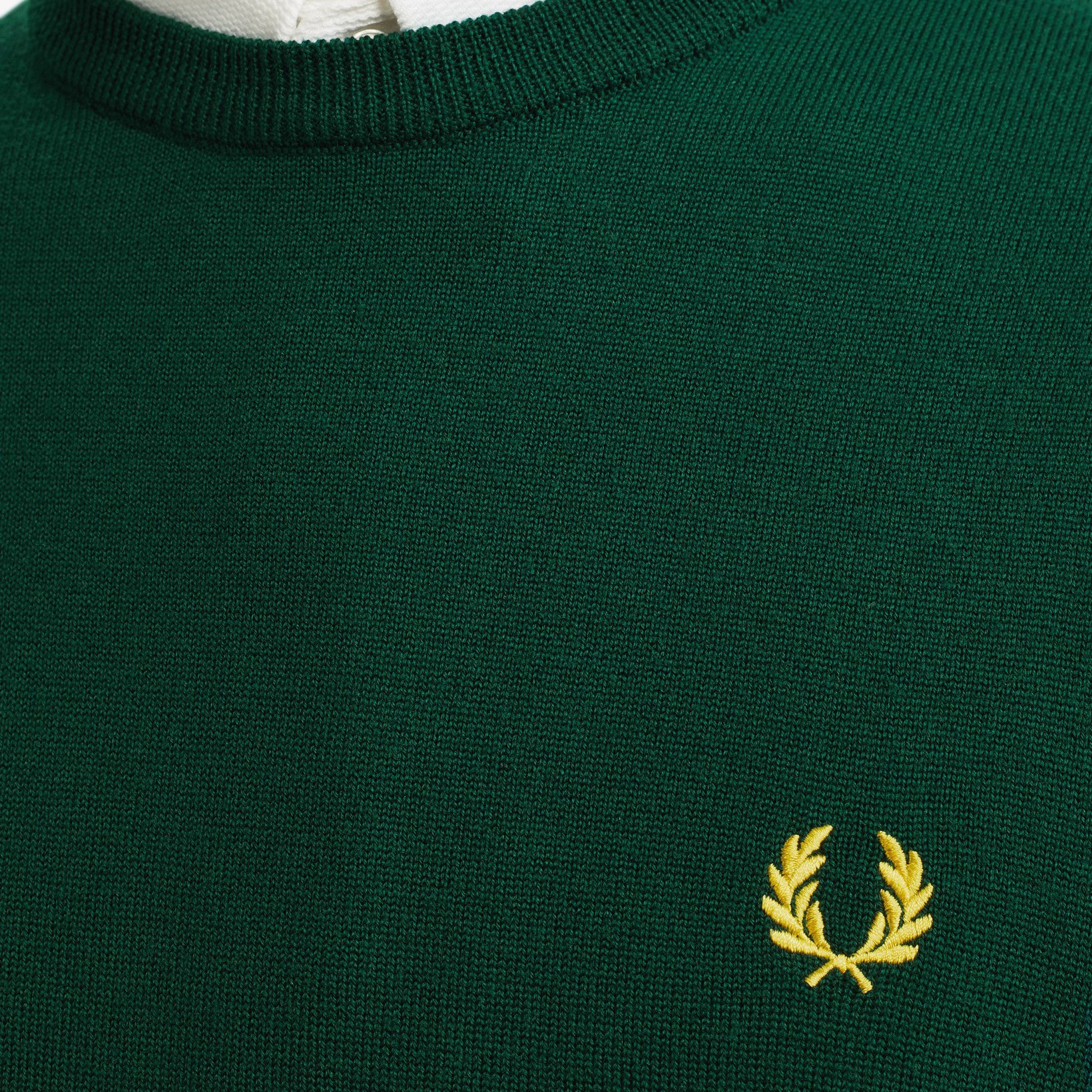 Fred Perry Classic Merino Crew Neck Evergreen