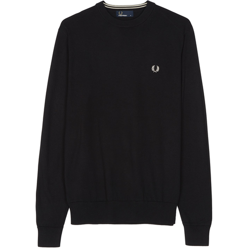 Fred Perry Classic Cotton Crew Neck Black