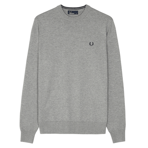 Fred Perry Classic Cotton Crew Neck Grey