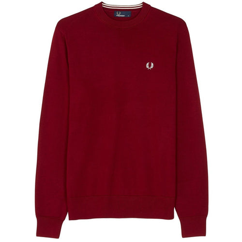 Fred Perry Classic Cotton Crew Neck Bordeaux