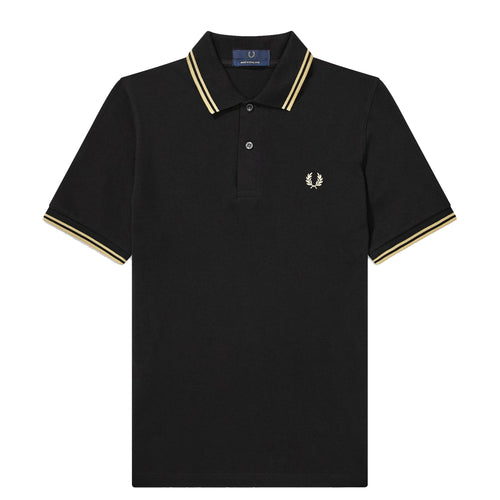 Fred Perry Polo Made in England Black/Champagne M12