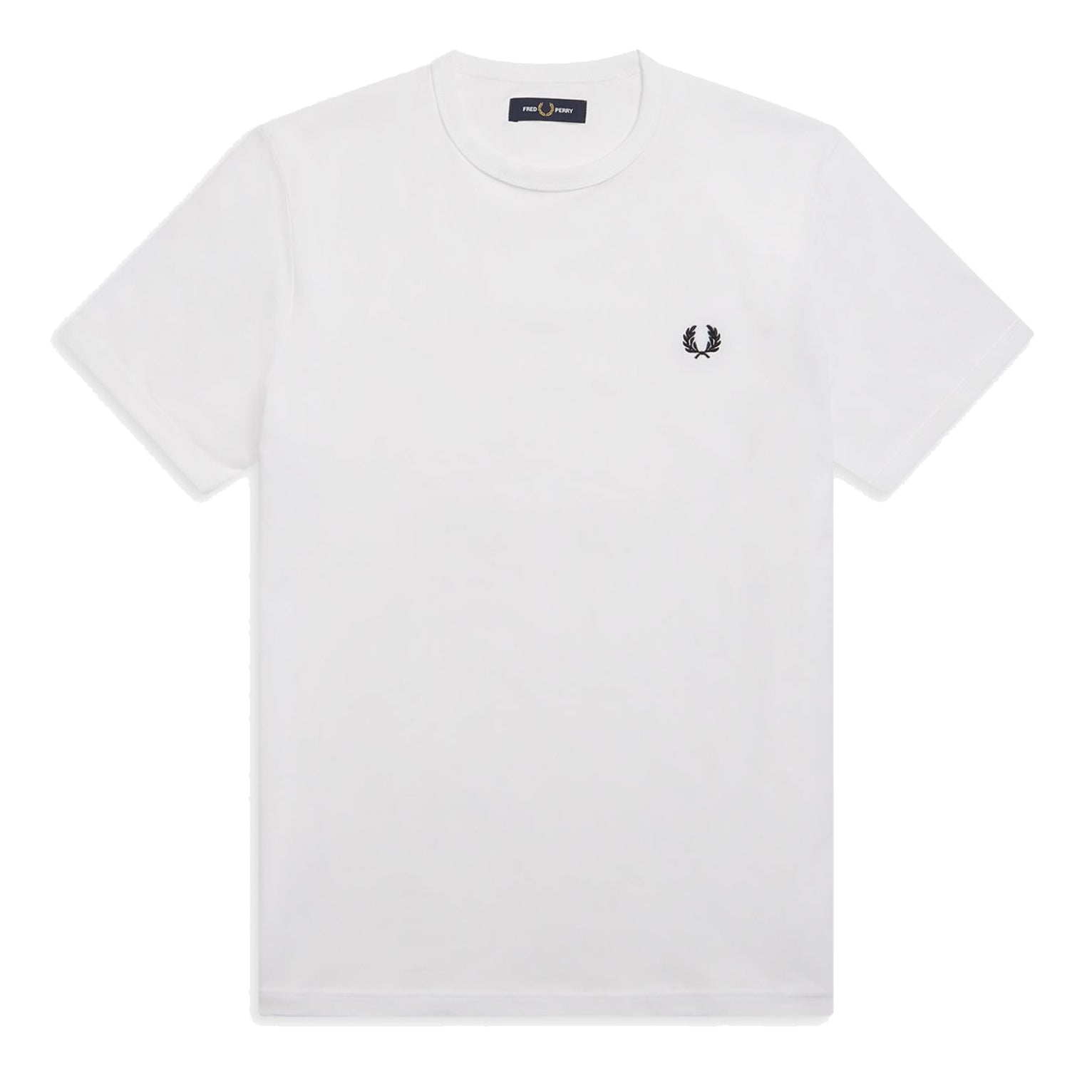 Fred Perry Ringer T-Shirt Weiss