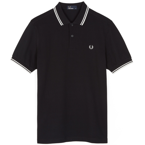 Fred Perry Polo Black & Porzellan M3600