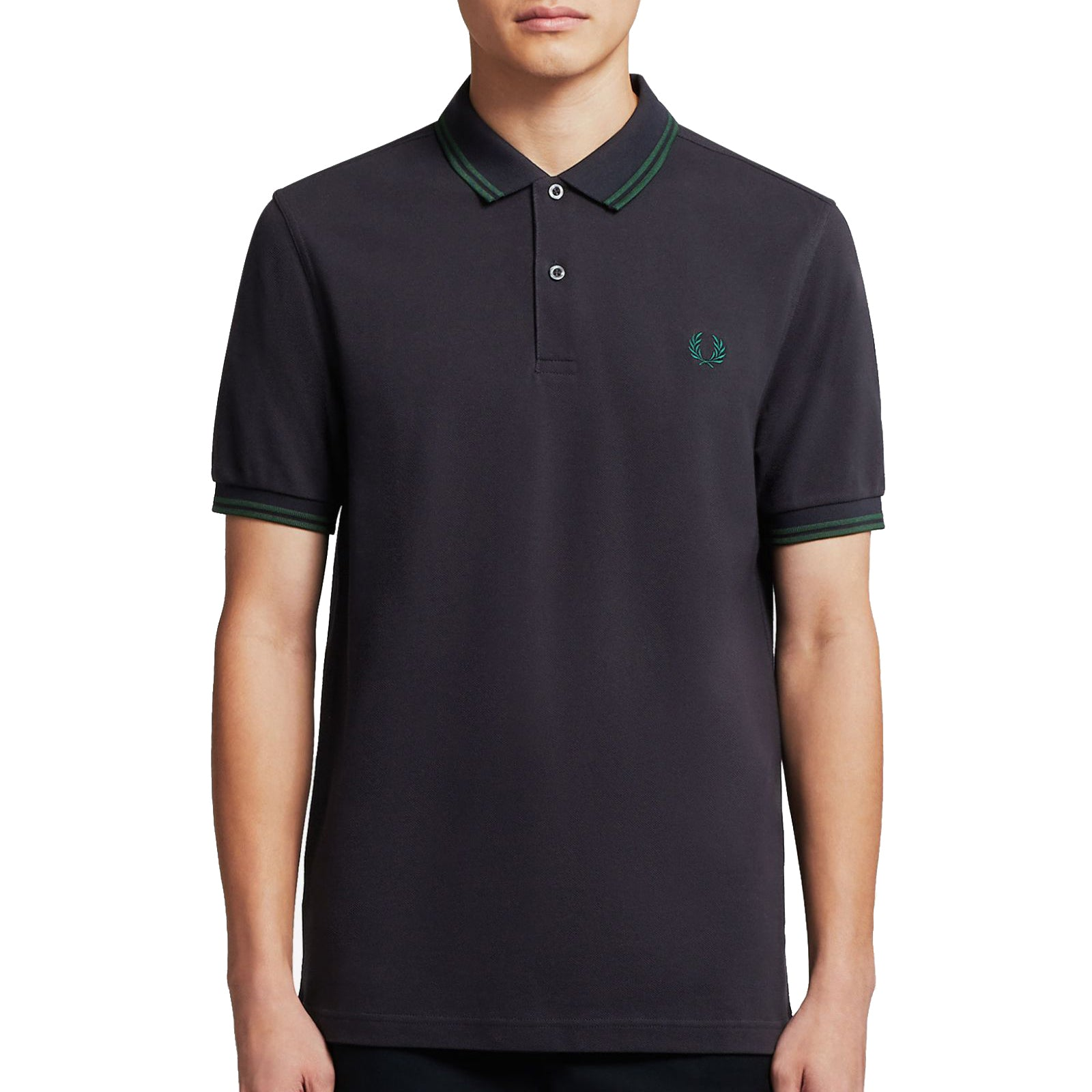 Fred Perry Polo Navy/Grün M3600