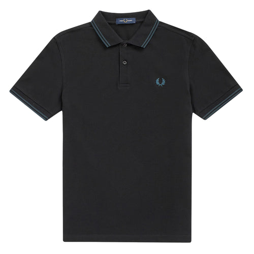 Fred Perry Polo Black/Petrol M3600