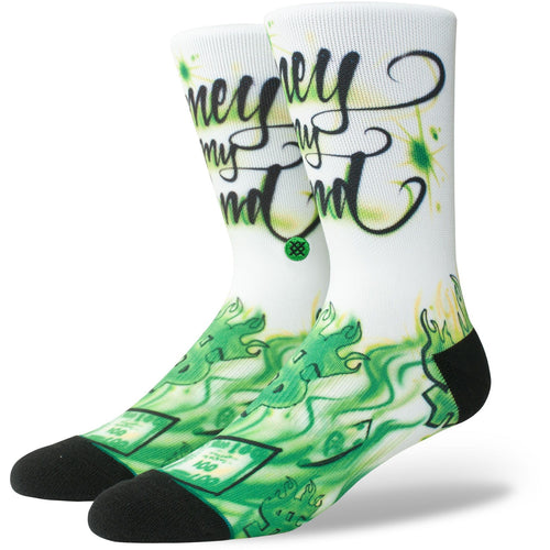 Stance Socken Airbrush Money Green