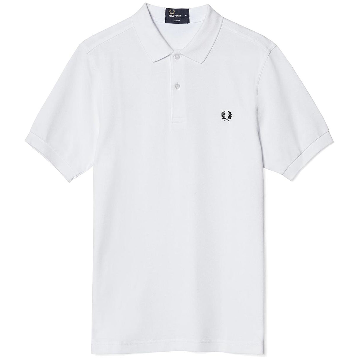 Fred Perry Polo White & Navy M6000