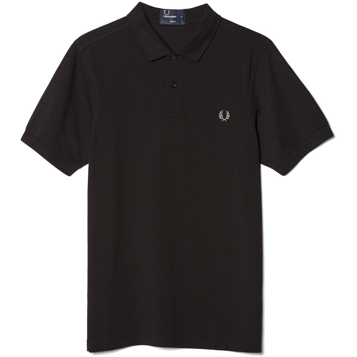 Fred Perry Polo Black & Chrome M6000