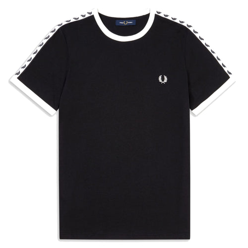 Fred Perry Taped Ringer T-Shirt, Black