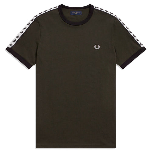 Fred Perry Taped Ringer T-Shirt, Hunting Green