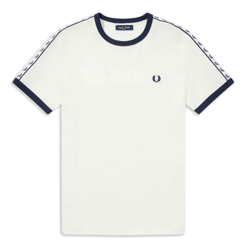 Fred Perry Taped Ringer T-Shirt Weiss