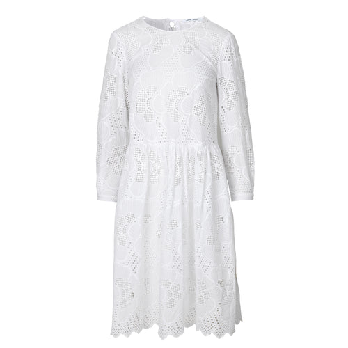 Samsoe Samsoe Junia ls dress 11455, White