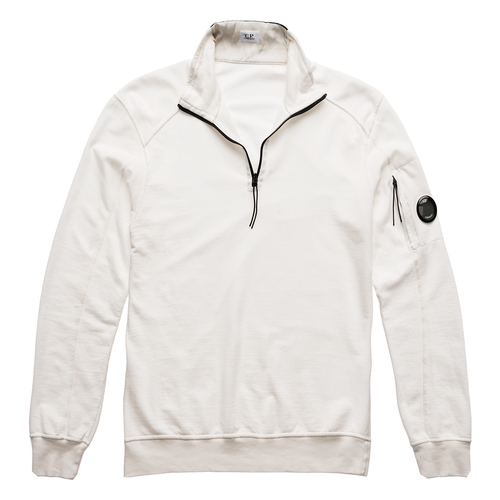 C.P. Company Turtle Neck Lightfleece, White