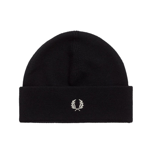 Fred Perry Merino Beanie, Black