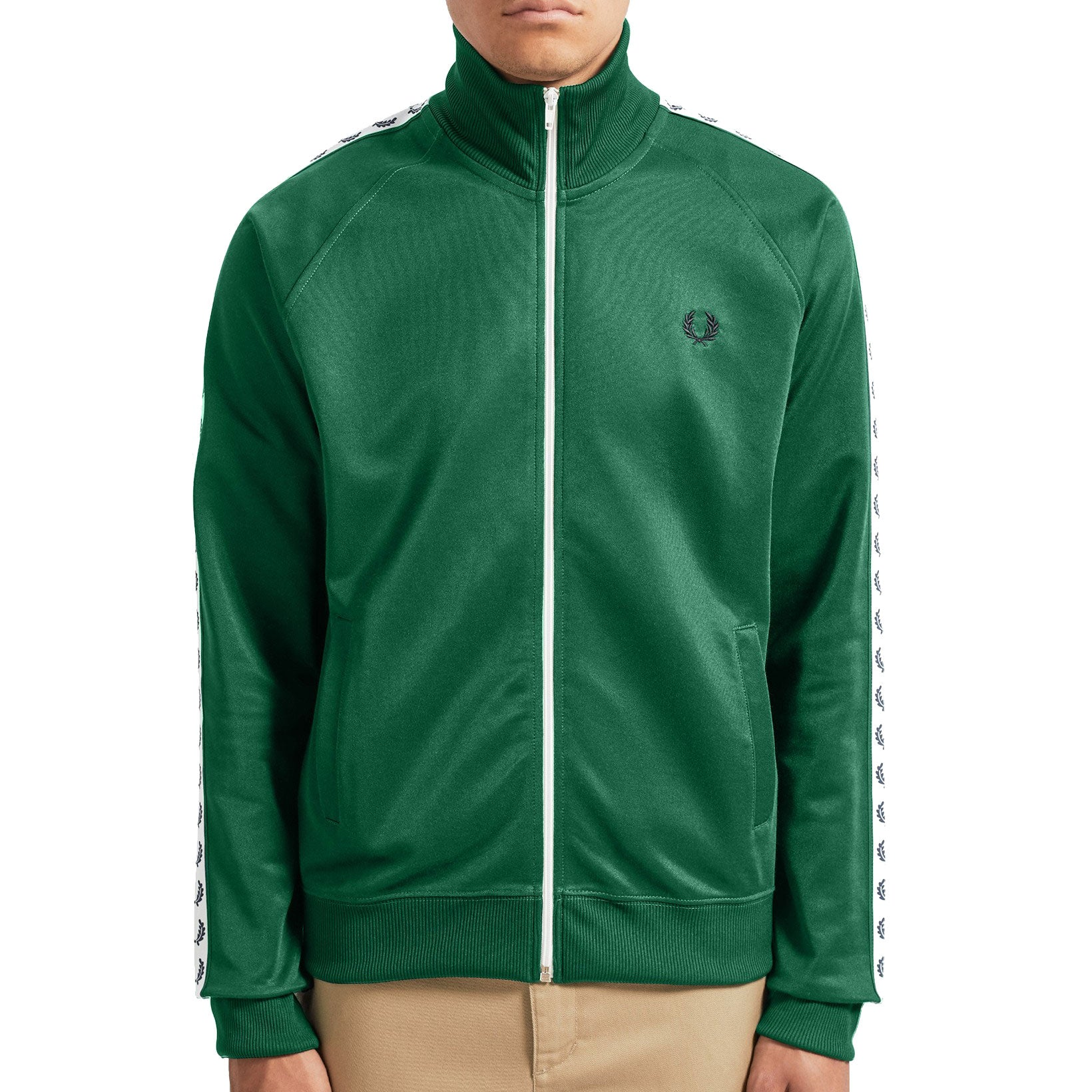 Fred Perry Sports Authentic Taped Track Jacket, Grün