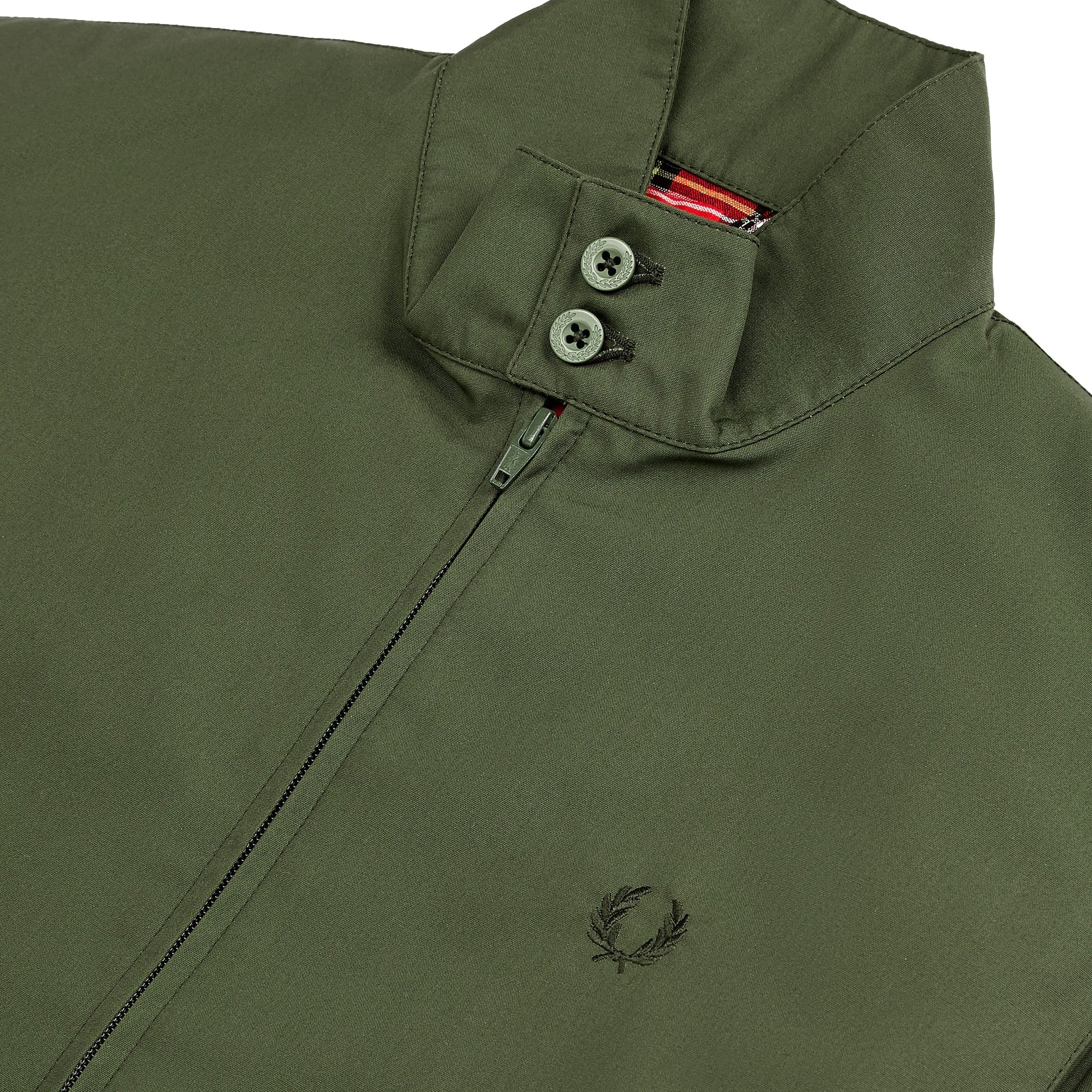 Fred Perry Made in England Harrington-Jacke, Olive
