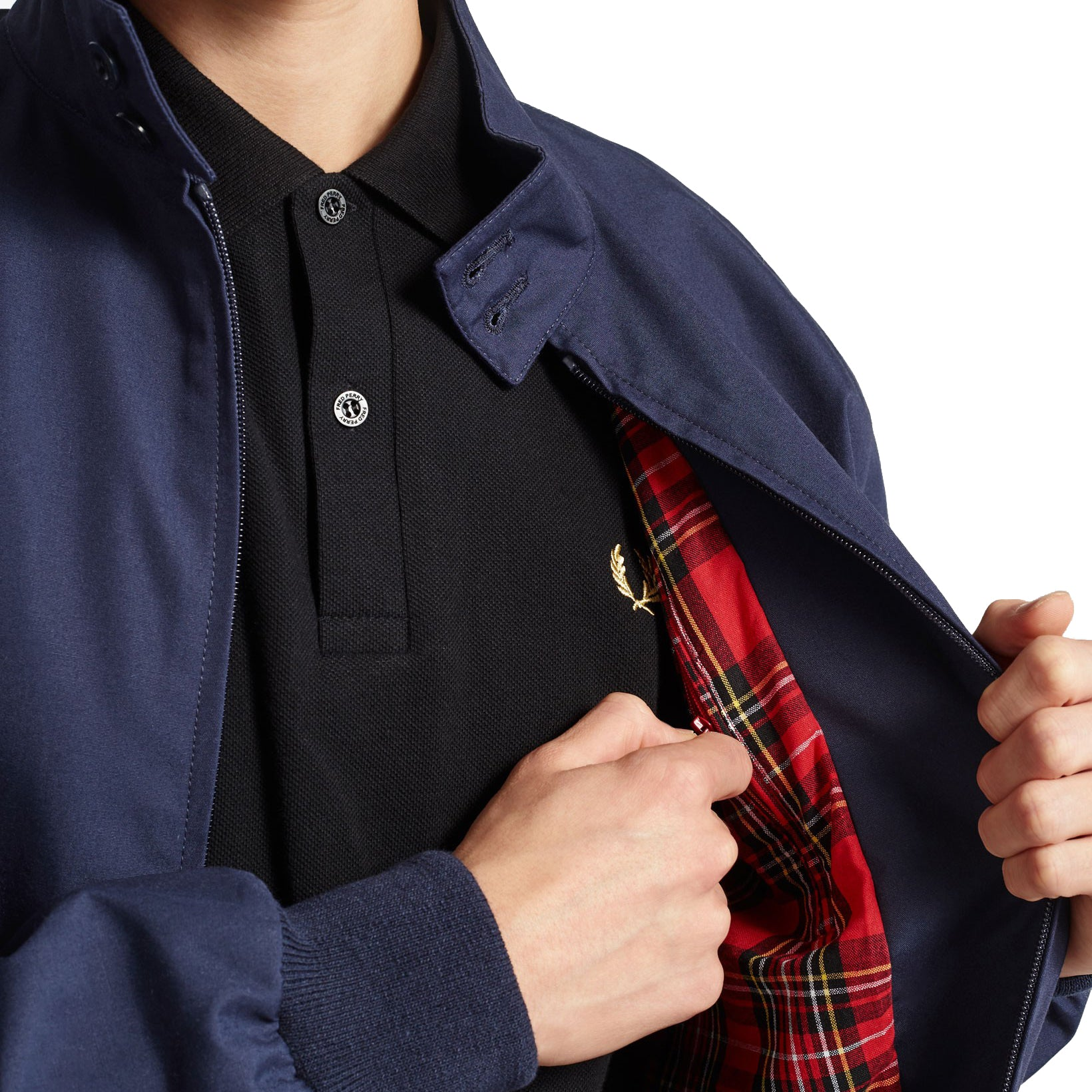Fred Perry Made in England Harrington-Jacke, Navy
