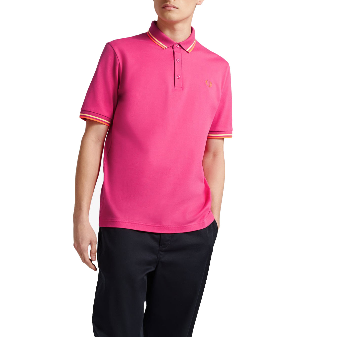 Fred Perry Polo Made in Japan, Neonorange
