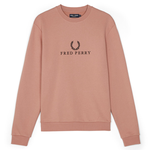 Fred Perry Embroidered Sweatshirt, Grey Pink