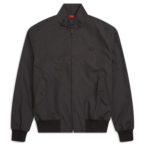 Fred Perry Made in England Harrington-Jacke, Black