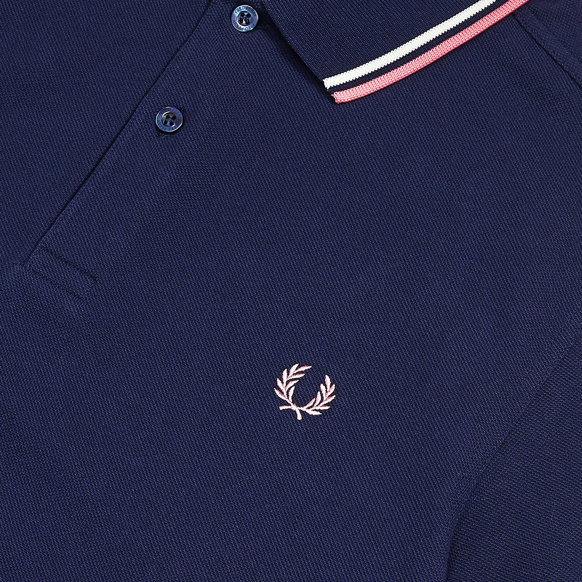 Fred Perry Polo Navy, White & Pink M3600