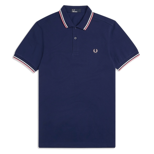 Fred Perry Polo Navy/White/Pink M3600