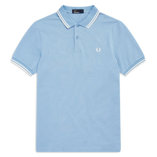 Fred Perry Polo Himmelblau & Weiss M3600
