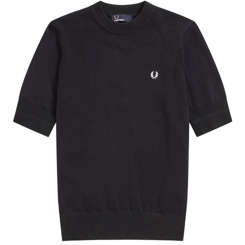 Fred Perry Rundhalspullover, Navy