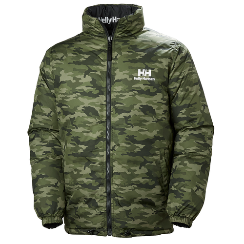 Helly Hansen Reversible Down Jacket, Black & Camo