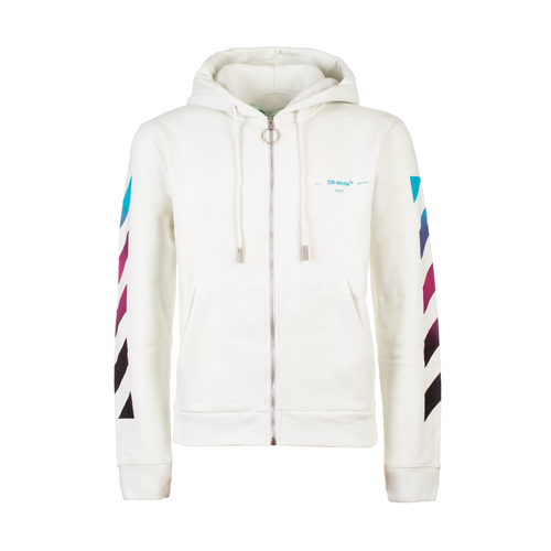 Off-White Gradient Zipped Hoodie White
