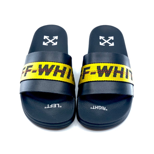 Off-White Industrial Slider Black Yellow