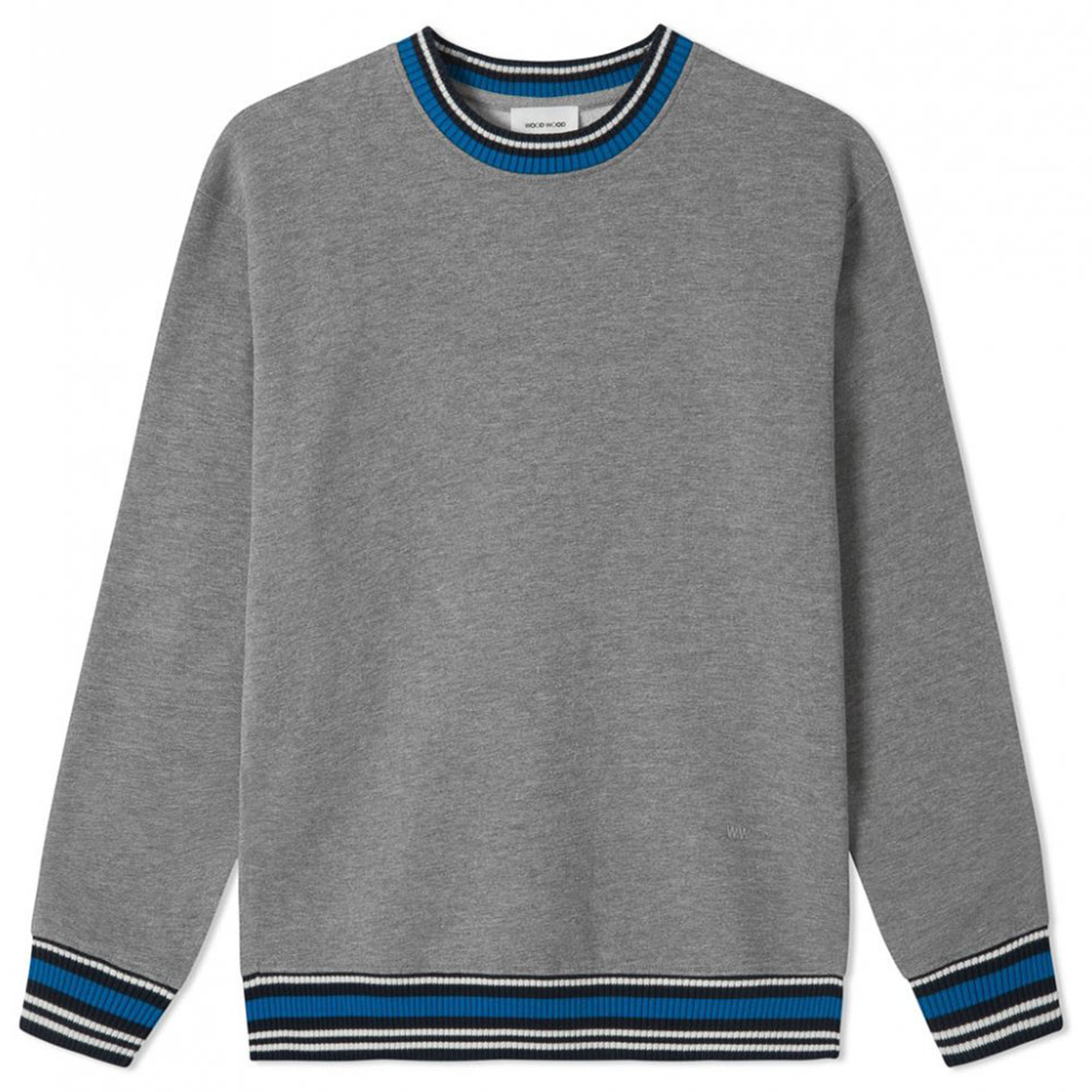 Wood Wood Nathan Sweatshirt, Grey Melange