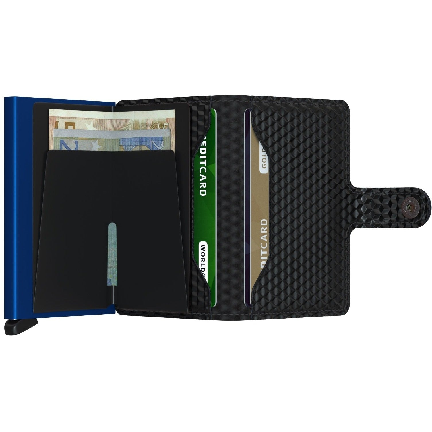 Secrid Miniwallet, Cubic Black & Blue