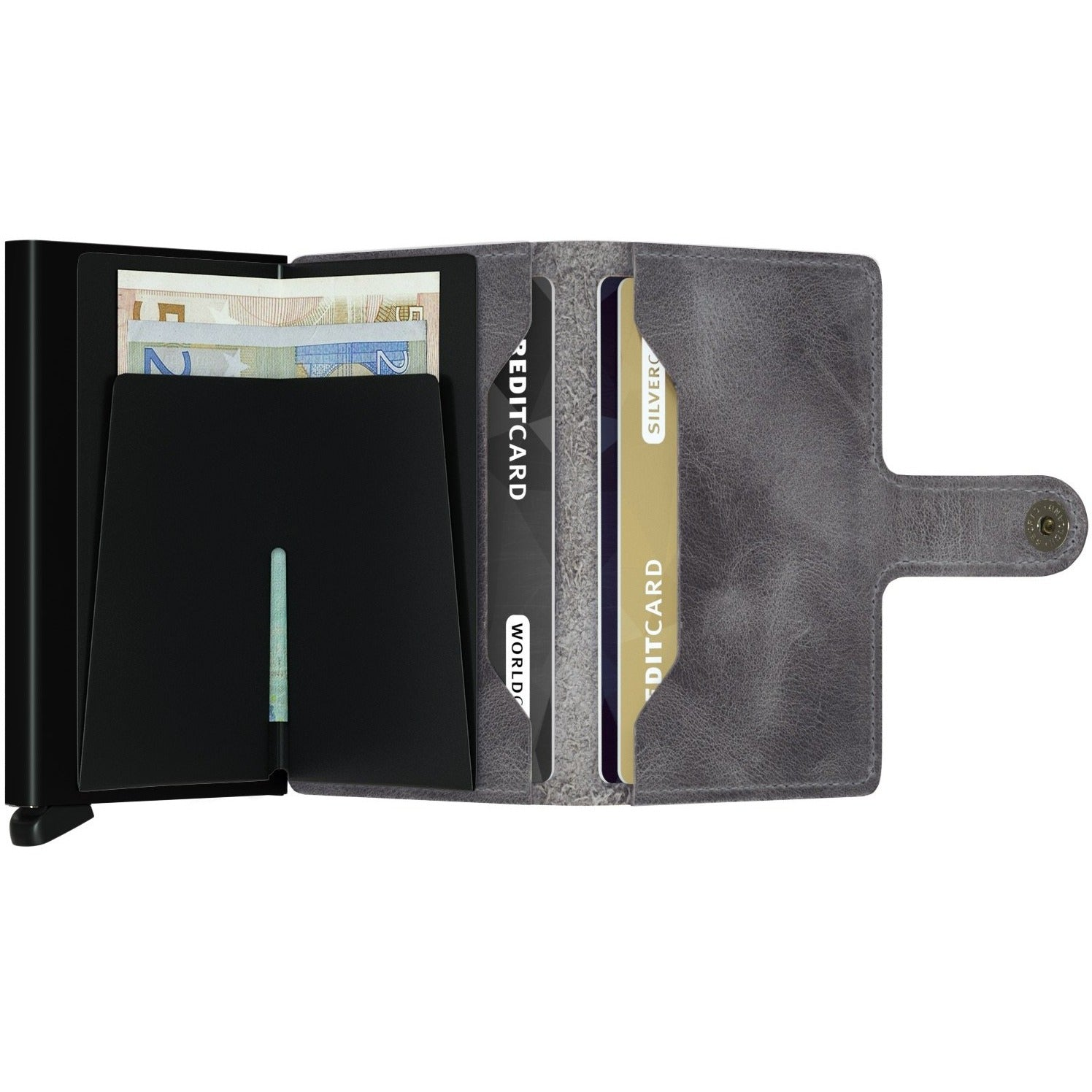 Secrid Miniwallet, Vintage Grey & Black