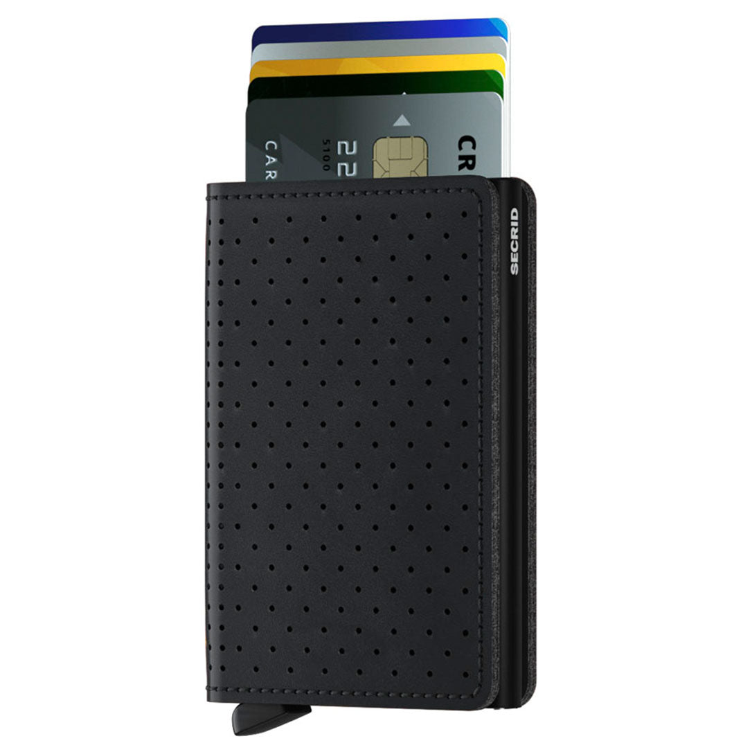 Secrid Slimwallet Perforated, Black