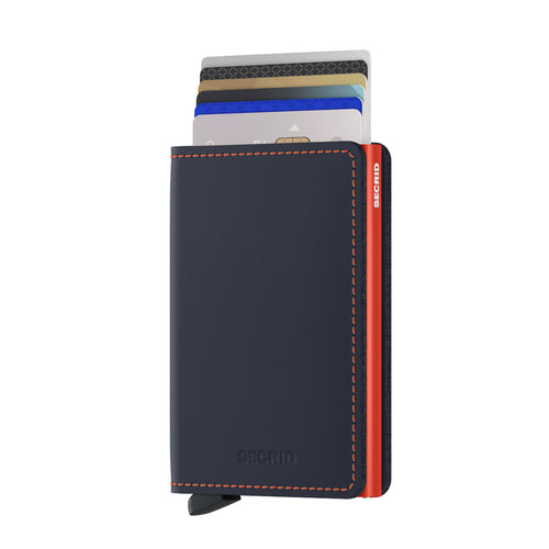 Secrid Slimwallet Matte Nightblue & Orange
