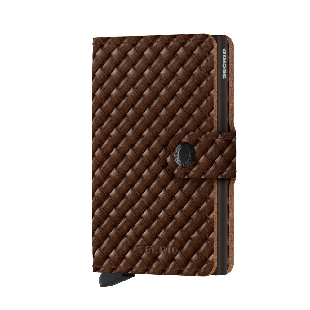 Secrid Miniwallet Basket, Brown