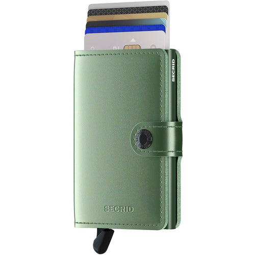 Secrid Miniwallet Metallic, Green