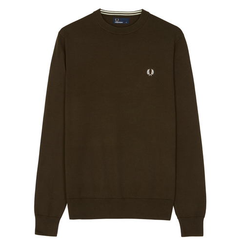 Fred Perry Classic Cotton Crew Neck Olive