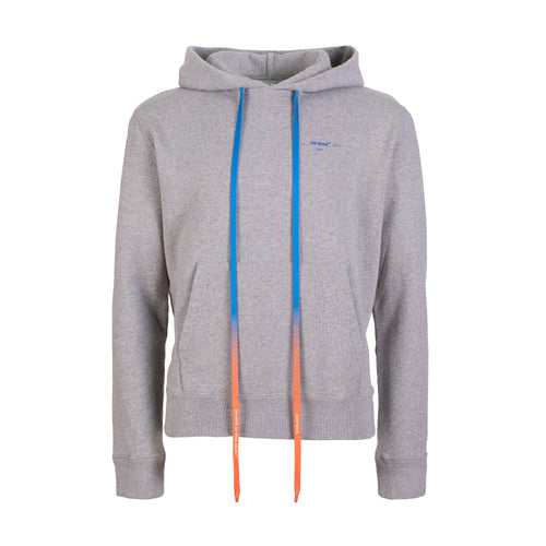 Off-White Acrylic Arrows Slim Hoodie Grey Melange